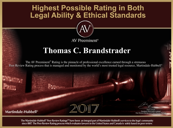 Highest Possible Rating in Legal Ability and Ethical Standards